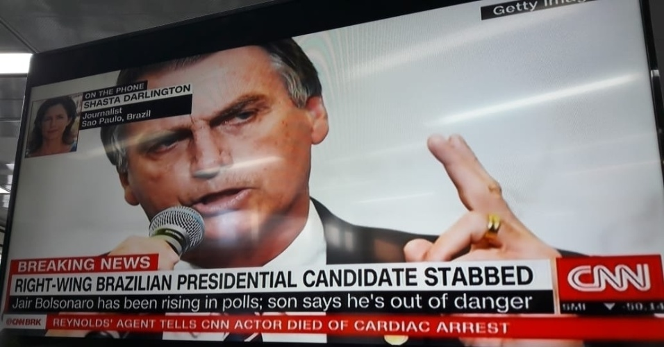Resultado de imagem para Imprensa internacional repercute ataque a candidato Jair Bolsonaro