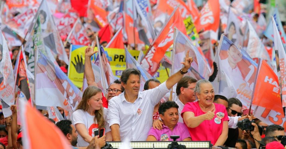 Fernando Haddad (PT) faz campanha em Manaus
