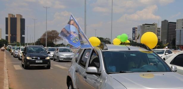 Carreata em apoio à candidatura de Jair Bolsonaro (PSL), em Brasília