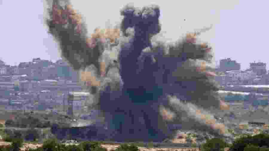 Israel bombardeia a faixa de Gaza  - Jack Guez/AFP - 4.mai.2019