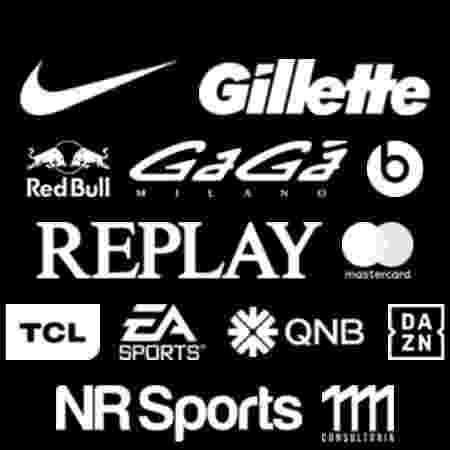 Site do jogador, hoje, possui 11 patrocinadores - Reprodução