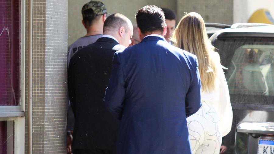 24.jun.2019 - Flordelis chega para depor na delegacia sobre morte do marido - José Lucena/Futura Press/Estadão Conteúdo
