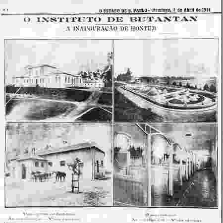 Capa do jornal O Estado de São Paulo sobre a inauguração do Butantan - Instituto Butantan - Instituto Butantan