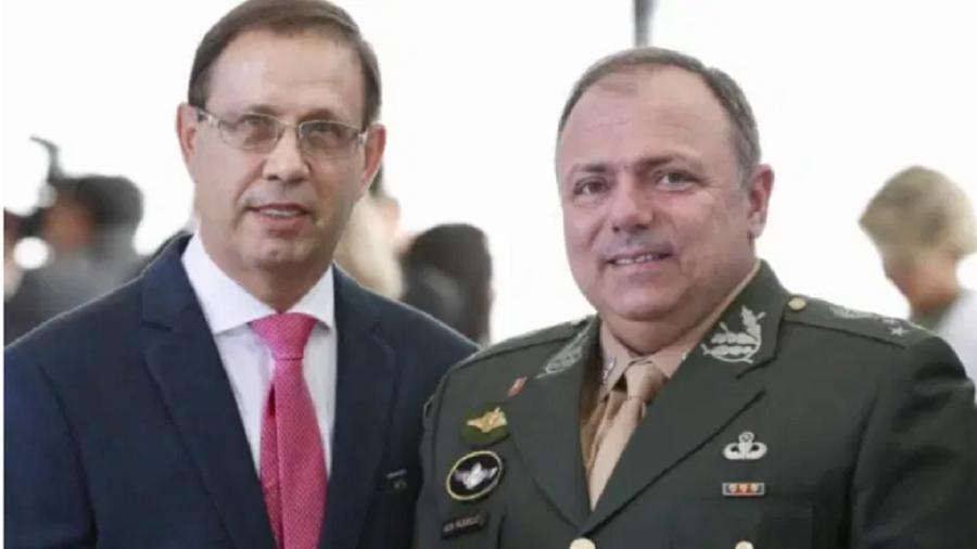 O empresário Carlos Wizard e o ministro da Saúde, general Eduardo Pazuello - Marcos Correia/Divulgação