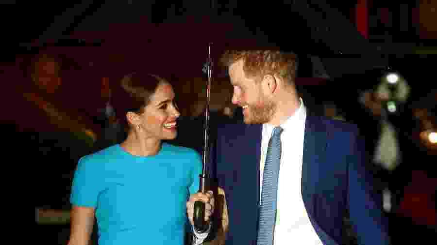 Príncipe Harry e sua esposa Meghan Markle -