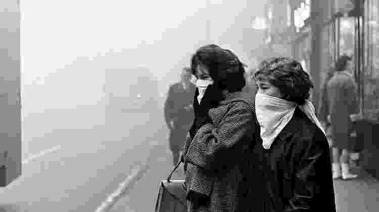 Um dia de poluição em Londres em 1962 - Getty Images - Getty Images