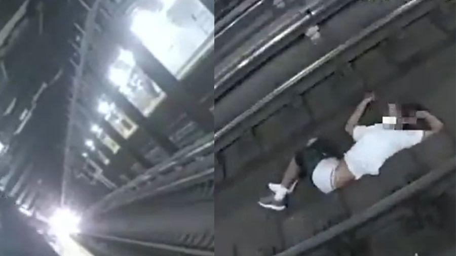 Segundo site americano, homem resgatado convulsionou antes de cair nos trilhos - Reprodução/Twitter