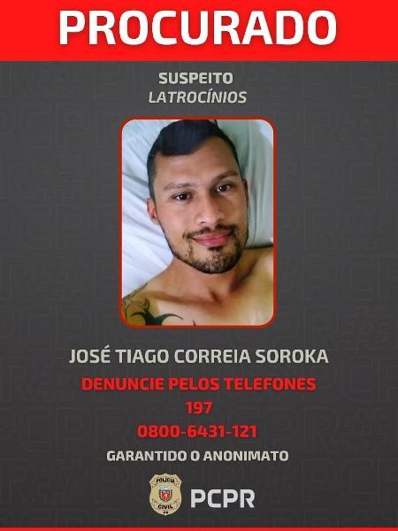 Polícia Civil divulgou retrato de assassino em série contra gays  - Divulgação/Polícia Civil-PR