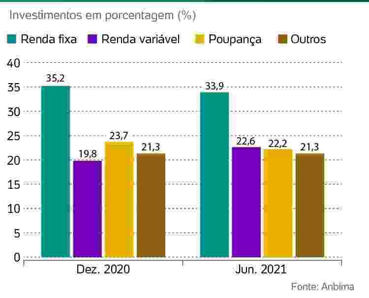 investimentos dez.2020 x jun.2021 - Arte/UOL - Arte/UOL