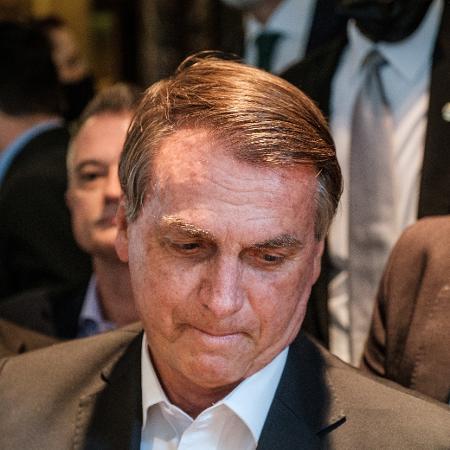 21.set.2021 - O presidente Jair Bolsonaro (sem partido), durante viagem a Nova York para a 76ª Assembleia-Geral da ONU - Stephen Yang/Reuters