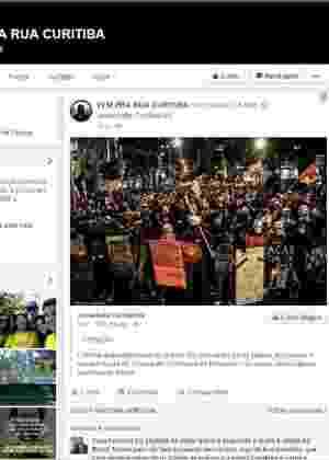Grupo de esquerda toma conta do perfil do Vem para Rua Curitiba desde a última sexta - Reprodução