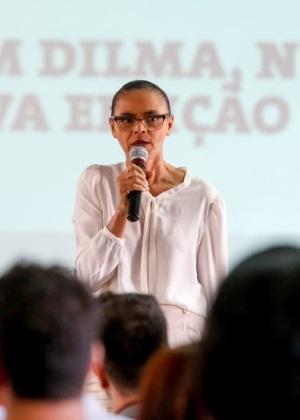A ex-ministra Marina Silva