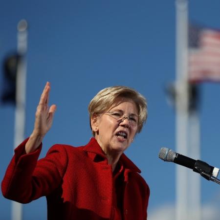 Elizabeth Warren, senadora democrata pelo Estado de Massachussetts - Justin Sullivan/Getty Images/AFP