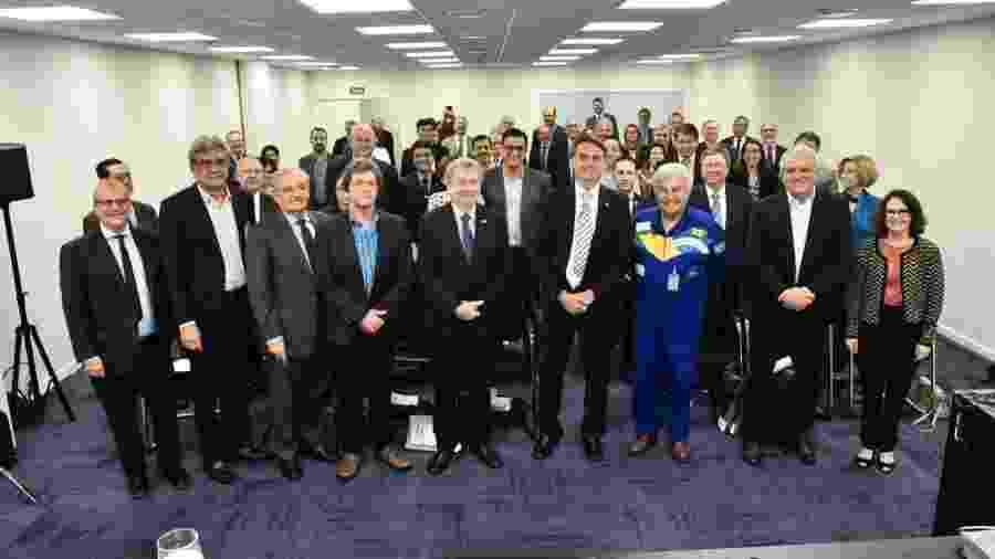 Astronauta Marcos Pontes, futuro ministro da Ciência, em encontro com a comunidade científica, no qual o presidente eleito Jair Bolsonaro (PSL) fez uma breve participação - Divulgação