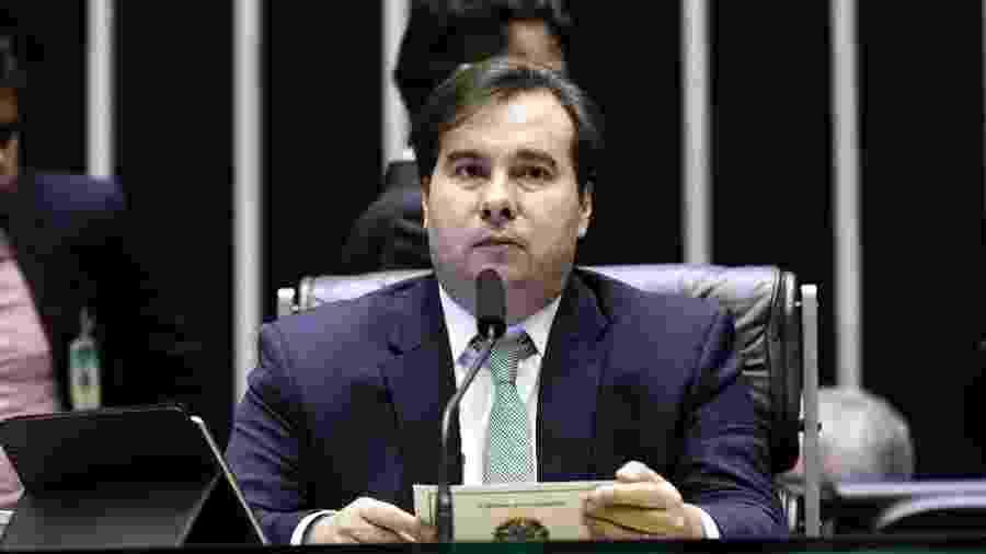 7.mai.2019 - Presidente da Câmara, Rodrigo Maia (DEM-RJ), dirige trabalhos no plenário da casa - Michel Jesus/ Câmara dos Deputados