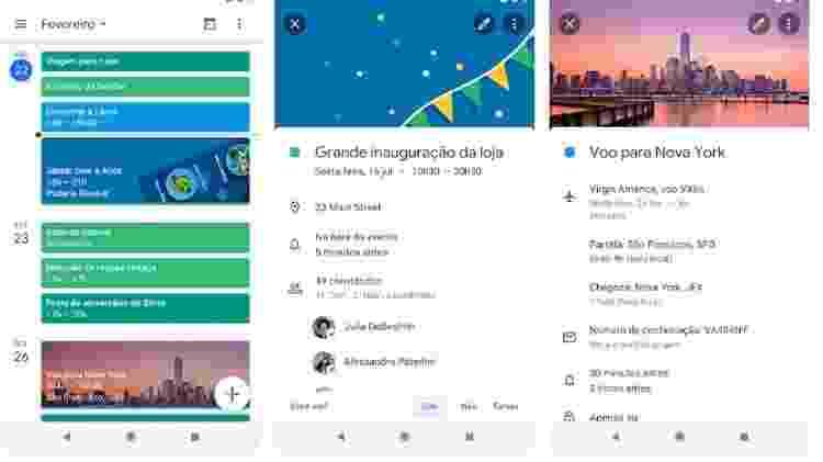 A gigante de tecnologia também tem um app específico para organizar o seu dia - Reprodução