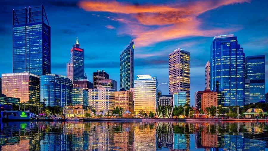 Pôr do sol na cidade de Perth, na Austrália - iStock by Getty Images