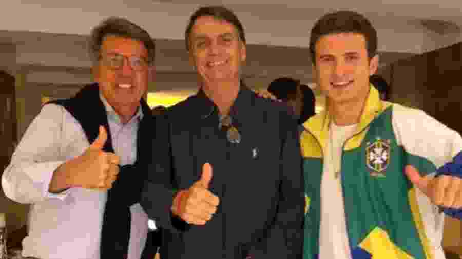 Paulo Marinho, Jair Bolsonaro e André Marinho - Reprodução/Facebook