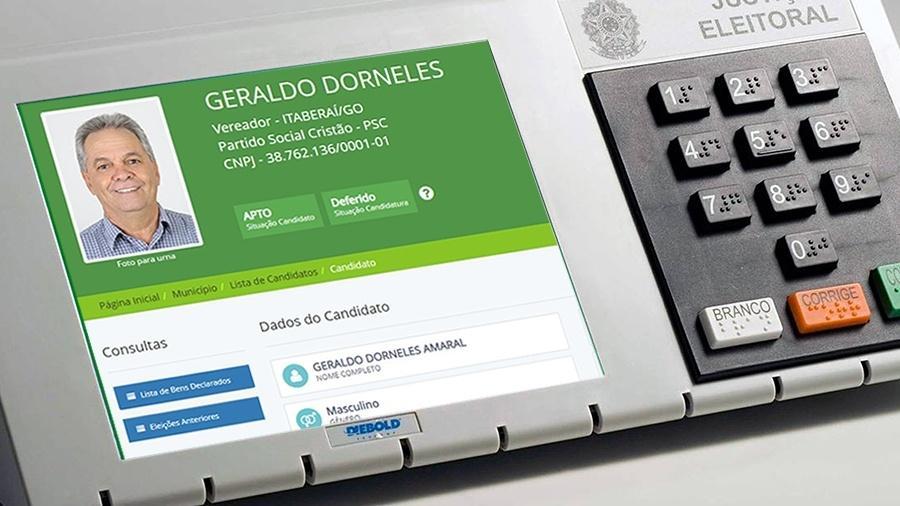 Geraldo Dorneles Amaral (PSC) tenta uma vaga de vereador em Itaberaí (GO) e está na lista suja do trabalho escravo - Arte/UOL