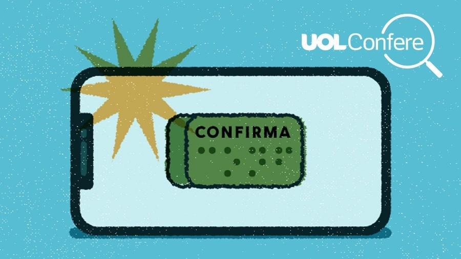 UOL Confere: Governo federal não criou cadastro online para voto pelo celular - Arte/UOL