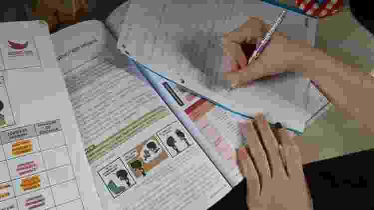 Aluna estuda em casa durante greve no Amorim - Arquivo Pessoal - Arquivo Pessoal