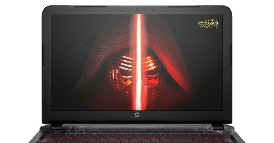 "12.out.2015 - Notebook da HP ""Star Wars Special Edition"""