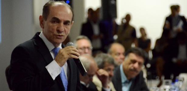 Ministro da Saúde, Marcelo Castro, participou de coletiva sobre o combate à microcefalia em Gravatá (PE)