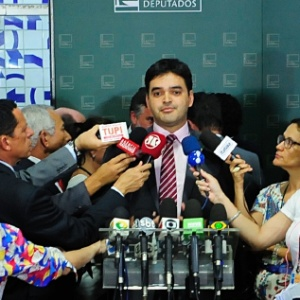 Rubens Pereira Júnior concede entrevista na Câmara