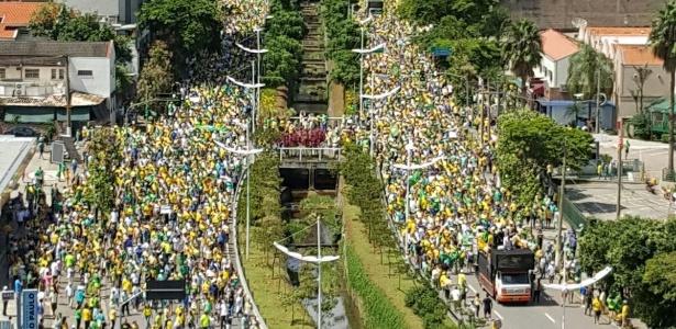 No interior, 20 mil pessoas vão às ruas de Rio Preto (SP) e 15 mil em Votuporanga (SP) - Marcus Zippinotti/Via WhatsApp