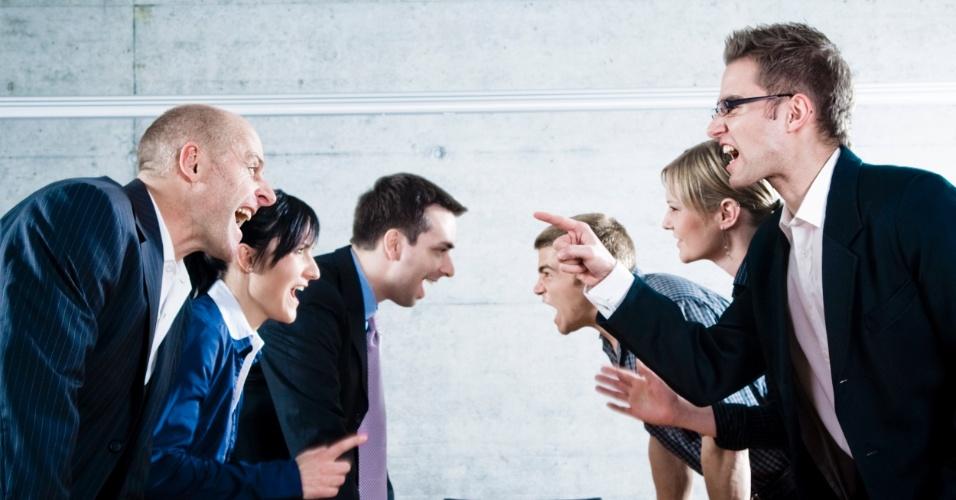 Discussão em reunião de trabalho