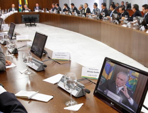 Temer abriu reunião com ministros e líderes partidários e quebrou protocolo - Beto Barata/PR