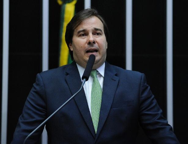Rodrigo Maia (DEM-RJ) discursa no plenário da Câmara dos Deputados durante sessão para eleger novo presidente da Câmara dos Deputados