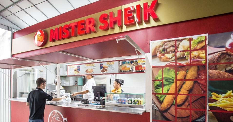 Restaurante em contêiner da rede de franquias Mister Sheik