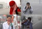 Nuvem de poluição em Nova Déli suspende aulas e afeta saúde da população - AP/AFP/Reuters