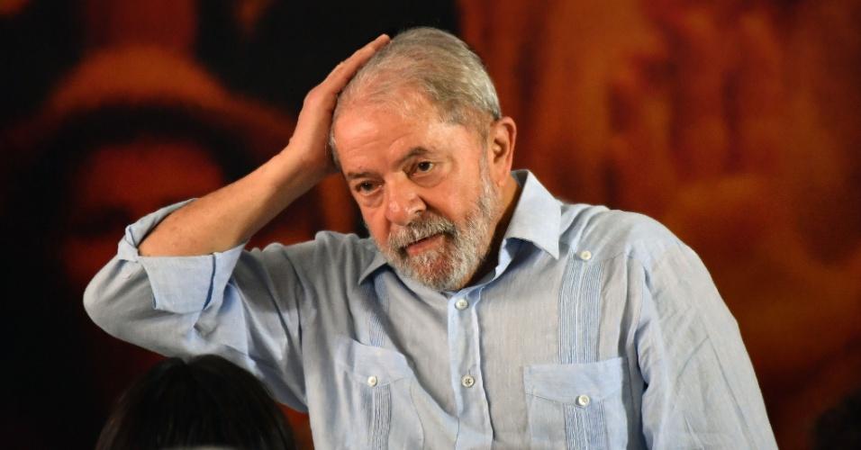 25.jan.2018- O ex-presidente Luiz Inácio Lula da Silva (PT), um dia após a condenação na segunda instância