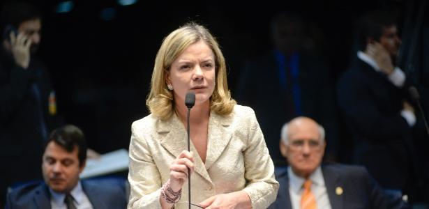 13.mar.2018 - Senadora Gleisi Hoffmann (PT-PR), presidente do PT - Jefferson Rudy/Agência Senado