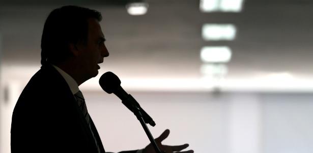 Jair Bolsonaro (PSL-RJ) durante palestra na Associação Comercial do Rio de Janeiro