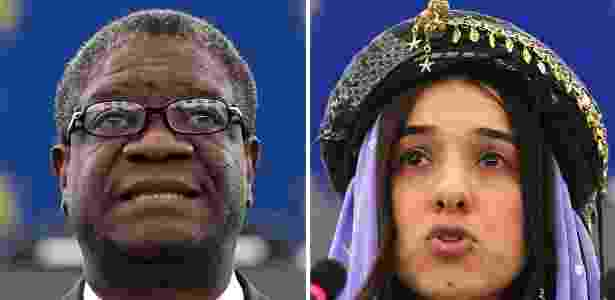 Denis Mukwege e Nadia Murad dividem o prêmio Nobel da Paz deste ano - Frederick Florin/AFP