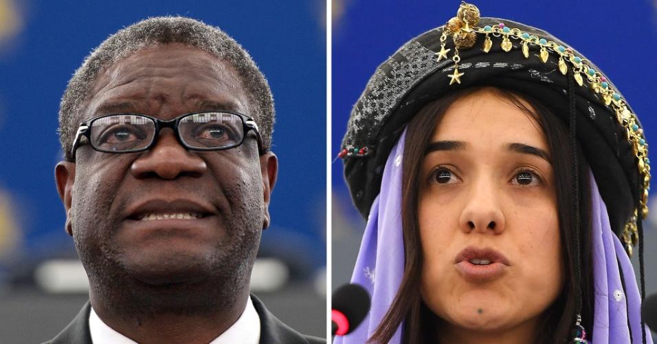 Denis Mukwege e Nadia Murad, vencedores do Prêmio Nobel da Paz 2018