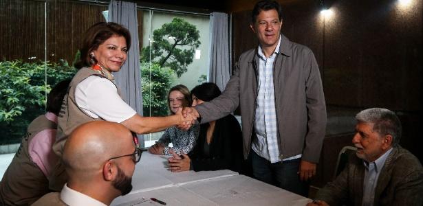 Fernando Haddad (PT) se encontra com a ex-presidente da Costa Rica, chefe da missão da OEA em SP