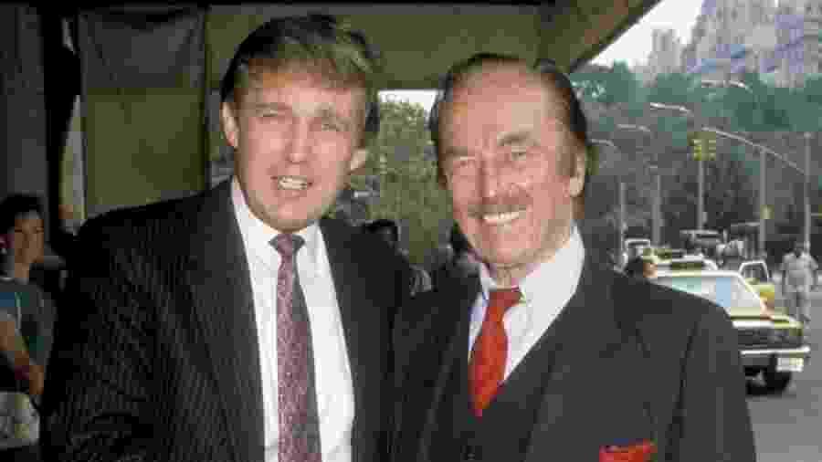 Donald Trump e Fred Trump em 1988 - Getty Images