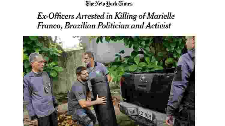 Marielle NYT - Reprodução - Reprodução
