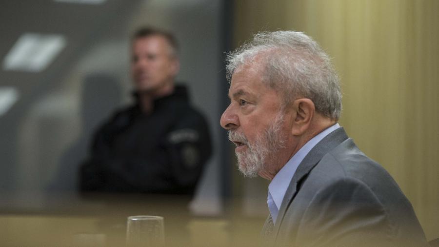 03.maio.2019 - Ex-presidente Lula concede sua primeira entrevista desde quando foi preso - Marlene Bergamo/Folhapress