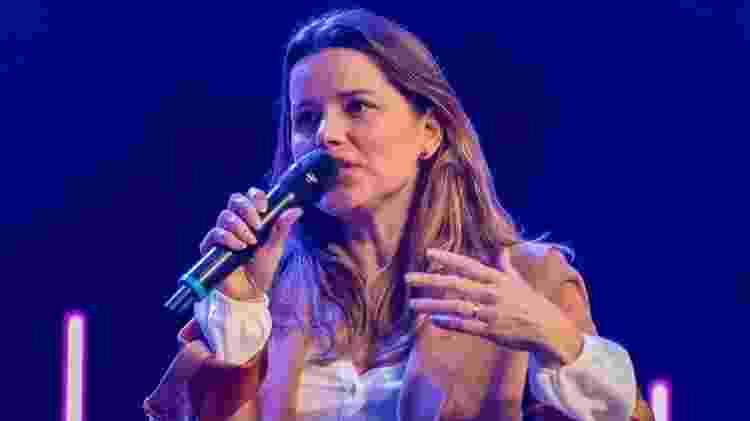 A empresária brasileira Vanessa Caldas, em Oeiras  - Reprodução/Expoforum Digitalks