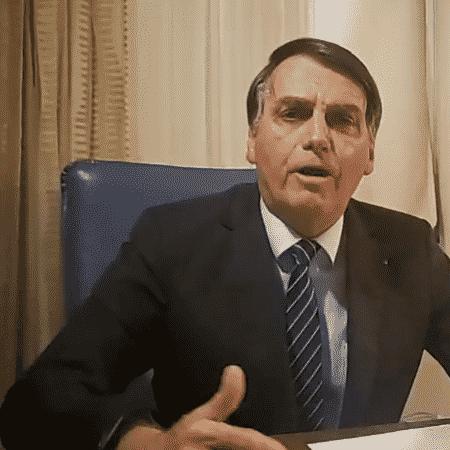 29.out.2019 - Jair Bolsonaro criticou reportagem em live em suas redes sociais - Reprodução
