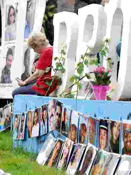 26.jan.2020 - Vítimas da tragédia de Brumadinho são homenageadas na cidade - Diogo Antunes/Photopress/Estadão Conteúdo