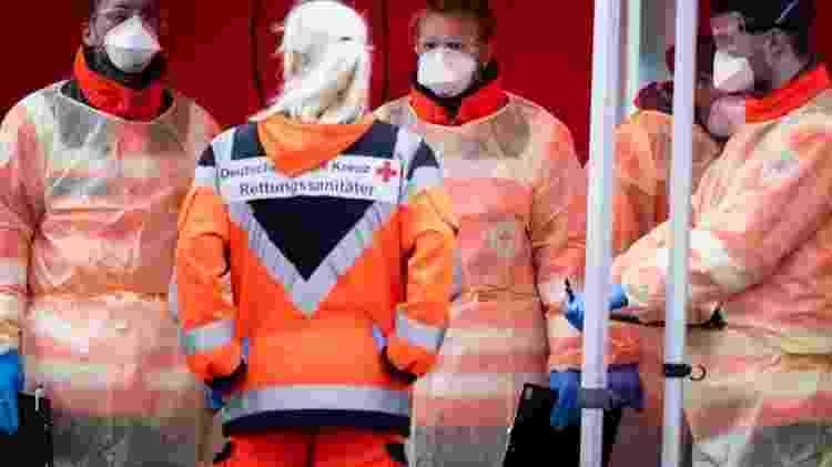 Autoridades alemãs indicaram que são capazes de realizar 160 mil testes de diagnóstico por semana - Getty Images - Getty Images