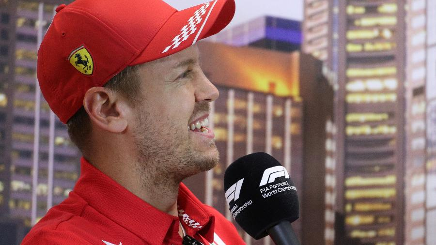 Piloto Sebastian Vettel em coletiva de imprensa na Austrália - LOREN ELLIOTT