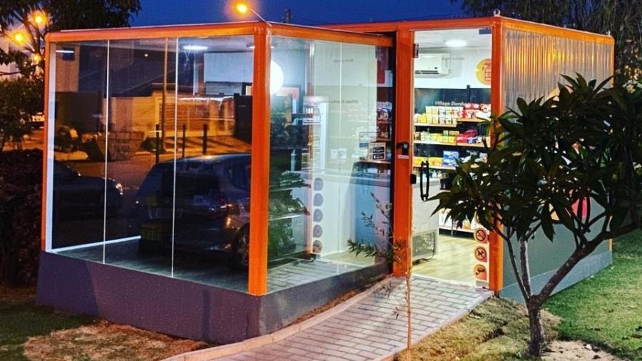 Contêiner da Onii, startup que fornece mini mercados para condomínios  - Divulgação