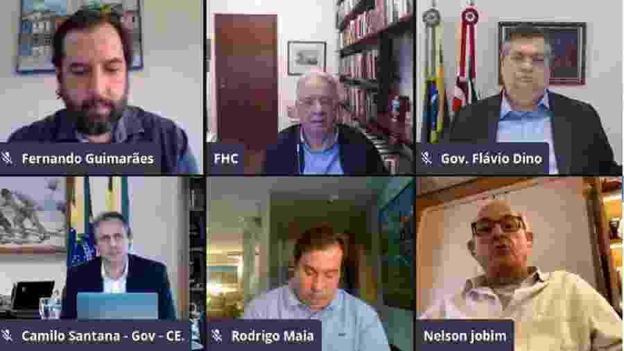 Live reúne lideranças para discutir democracia - Reprodução